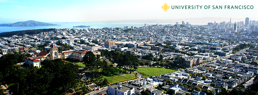 View of USF Lone Mountain surrounded by San Francisco.