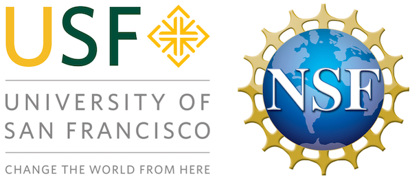 Logo for the University of San Francisco (left) and National Science Foundation (right).